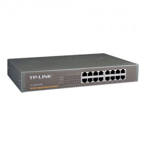16 Port Gigabit Kupfer Switch, 10/100/1000 Base-T 16 x Gigabit Ports (RJ45), 19'', 1HE