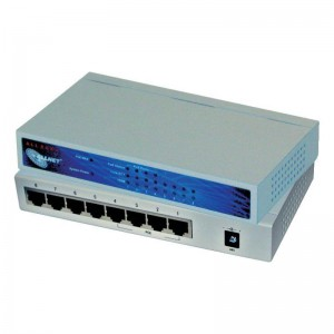 Power over Ethernet Switch, 8 x RJ45 Port 10/100 MBit/s, davon 4 x PoE Anschluss