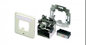 AMP ACOplus Installationskit, Geradeauslass, perlweiß, Farbe: RAL 1013