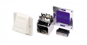 AMP ACOplus Installationskit, Schrägauslass, perlweiß, Farbe: RAL 1013