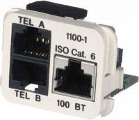AMP ACOplus Cat. 6 Adaptereinsatz 100 Base-TX / 2 x Telefon