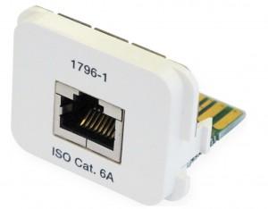 AMP ACOplus Cat. 6A  Adaptereinsatz für alle Dienste, inkl. 1000 Base-T, 1x RJ45 Buchse, RAL 9010
