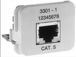 AMP ACO Adapter Einsatz 10/100 Base-T 1 x RJ45 Buchse geschirmt, RAL 1013