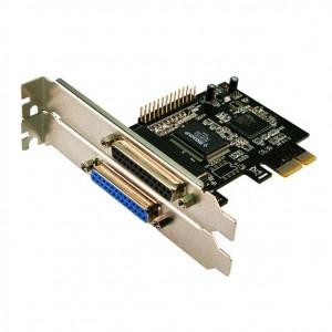Schnittstellenkarte 2-fach parallel,  ECP/EPP, PCI-Express