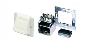 AMP ACOplus Installationskit, Schrägauslass, reinweiß, Farbe: RAL 9010