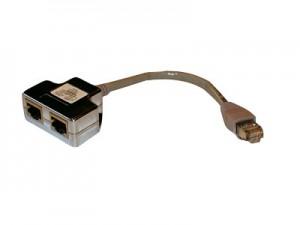 Modular T-Adapter Cat. 5 für Cablesharing LAN/LAN