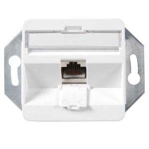 Modulare Anschlußdose für 1x Keystone Modul