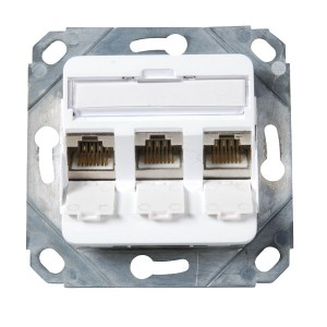 Modulare Anschlußdose für 3x Keystone Modul