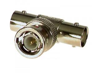 BNC T-Adapter, Buchse/Stecker/Buchse
