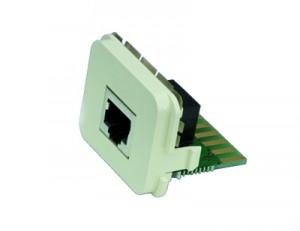 AMP ACO Adapter Einsatz für alle Dienste, inkl. 1000Base-T, 1x RJ-45 Buchse, RAL 9010