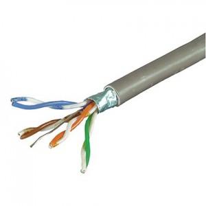 Cat. 5e Installationskabel, halogenfrei, Folienschirm, bis 200 MHz, Länge: 100 m