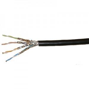 Cat. 7 S/FTP Erdkabel / Außenkabel bis 900 MHz PE-Mantel, 500m Trommel