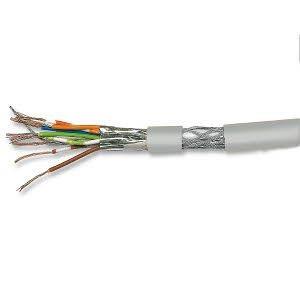 Cat. 7 Patchkabel, halogenfrei, PIMF, paarweise geschirmt, bis 900 MHz, 100 m Ring, grau