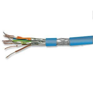 Cat. 7 Patchkabel, halogenfrei, PIMF, paarweise geschirmt, bis 900 MHz, 500 m Trommel, blau