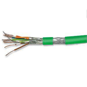 Cat. 7 Patchkabel, halogenfrei, PIMF, paarweise geschirmt, bis 900 MHz, 500 m Trommel, grün