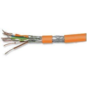 Cat. 7 Patchkabel, halogenfrei, PIMF, paarweise geschirmt, orange