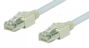 Cat. 5e Cross-over Kabel mit RJ45 Hirosesteckern