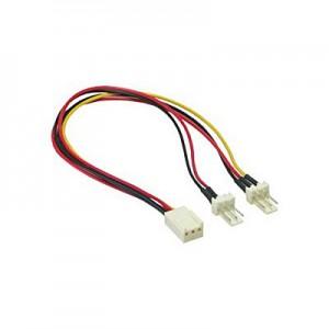 Lüfter Y-Anschlusskabel, 3-pol. Molex Buchse / 2 x Stecker