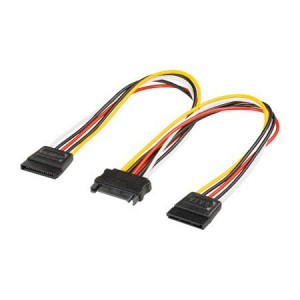 SATA Y-Stromkabel, SATA Stecker an 2x SATA Buchse