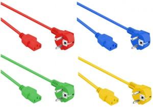Schuko Netzanschlusskabel, farbig