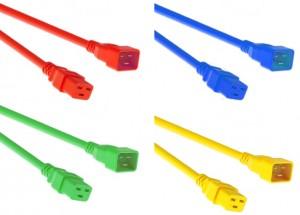 Kaltgeräte Netzverlängerungskabel farbig, C19-C20