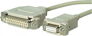 Serielles Druckerkabel, 9-pol. Sub-D Buchse / 25-pol. Sub-D Stecker, Länge: 3 m