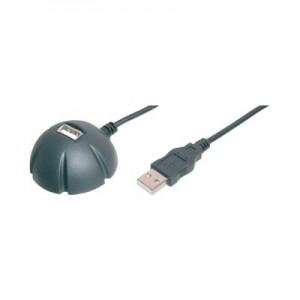 USB 2.0 Dockingstation, USB Verlängerungskabel mit Standfuß, doppelt geschirmt, 1,5 m