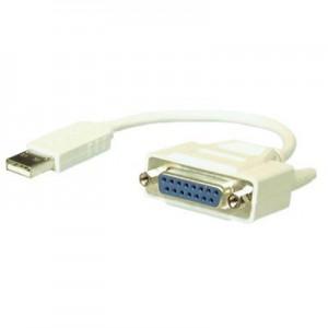 USB Adapterkabel für Gameport, USB Stecker Typ A / 15-pol. Sub-D Buchse, Kabellänge: ca. 0,20 m, mit Elektronik
