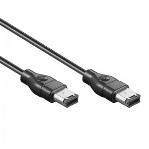 FireWire Anschlusskabel IEEE1394, 6-pol. Stecker/Stecker