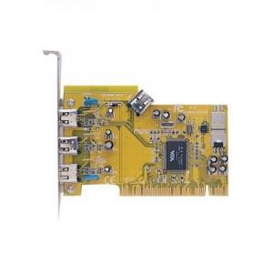 IEEE1394b FireWire 800 Karte, PCI Steckkarte mit 3 x externen 9-pol. FireWire 800 Anschlüssen