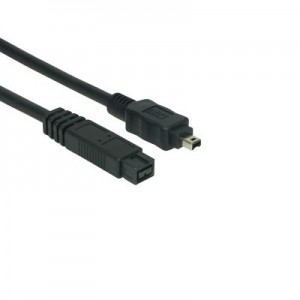 FireWire 800 Anschlusskabel IEEE1394b, 9-pol. Stecker / 4-pol. Stecker