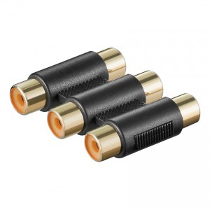 Audio/Video Adapter, 3 x Chinch Buchse an 3 x Chinch Buchse