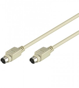 Tastaturkabel PS2, 6-pol. Mini-DIN Stecker/Stecker