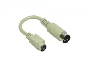 Tastaturadapter mit kurzem Kabel, 6-pol. Mini-DIN Buchse / 5-pol. DIN Stecker