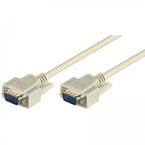 Standard VGA Monitorkabel, geschirmt, 15-pol. HD Sub-D Stecker/Stecker