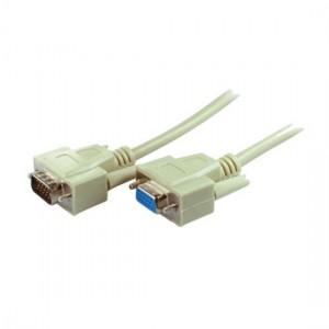 Standard VGA Monitorkabel, geschirmt, 15-pol. HD Sub-D Stecker/Buchse