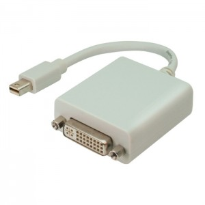 Displayport Adapter, mini Displayport Stecker an DVI Buchse