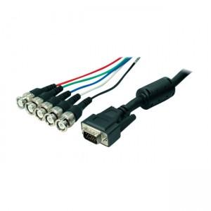 Monitorkabel 15-pol. HD Sub-D Stecker / 5 x BNC Stecker