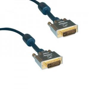 High Quality DVI Monitorkabel, Dual Link, 2 x DVI 24+1 Stecker