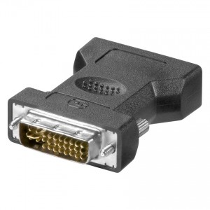 DVI Adapter, 15-pol. HD Sub-D Buchse / DVI 12+5 Stecker