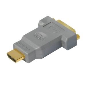 High Quality HDMI / DVI Adapter, HDMI Stecker / DVI 24+1 Buchse, Vollmetallausführung, vergoldete Kontakte