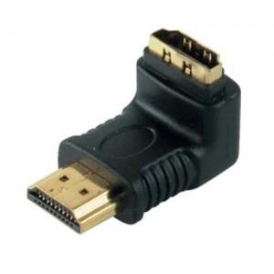 HDMI Adapter, HDMI Stecker / HDMI Buchse 90° abgewinkelt