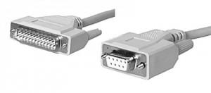 AT-Adapterkabel, 9-pol. Sub-D Buchse / 25-pol. Sub-D Stecker geschirmt, 3 m