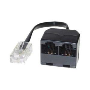 ISDN Mehrfachadapter, 2 Port, ungeschirmt, 10 cm Kabel