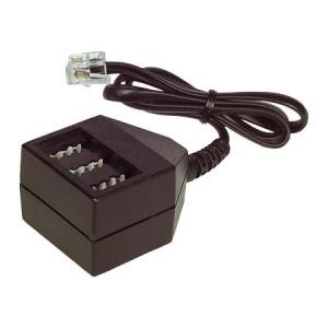 Telefon Adapter, RJ45 Stecker / TAE-NFN Buchse, 20 cm Kabel