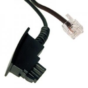 DSL Splitter Anschlusskabel, TAE-F Stecker / RJ12-DEC (6P2C) Stecker