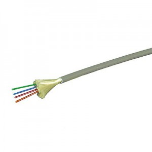 LWL Minibreakoutkabel, 4-fasrig, direkte Steckermontage halogenfrei, Innenkabel, 4G 50/125 µm