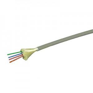 LWL Minibreakoutkabel, direkte Steckermontage halogenfrei, Innenkabel, 4G 62,5/125µm, 4fasrig