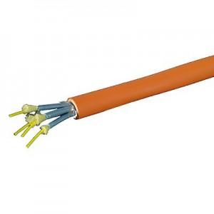 LWL Full-Breakoutkabel, direkte Steckermontage halogenfrei, Innenkabel, 4G 62,5/125µm, 4fasrig