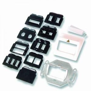 LWL Universal Anschlussdose, cremeweiß RAL 1013 für SC-duplex + simplex, ST, MT-RJ, E2000-simplex